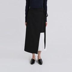 spring unbalance pleats detail skirt (2colors)