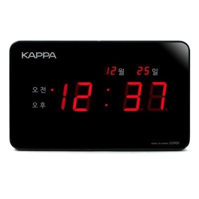 카파 D2900 블랙 고휘도 슈퍼 레드LED 디지털벽시계 국내산