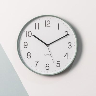 카파 IP250 그린 슬림프레임 심플 무소음 인테리어벽시계
