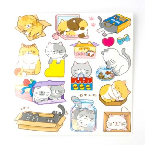 [또자] 어딘가에 들어간 고양이2 스티커 (8장)