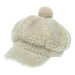 [더그레이]OKN15.뽀글이 양털 여성 빵모자 뉴스보이캡
