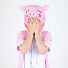반팔 동물잠옷 돼지 (핑크) / 복돼지_(769129)