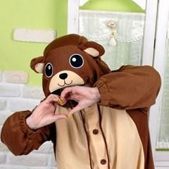 사계절 동물잠옷 곰 (브라운)