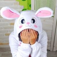 사계절 동물잠옷 토끼 (화이트)