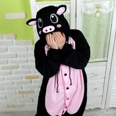 사계절 동물잠옷 돼지 (블랙) / 복돼지