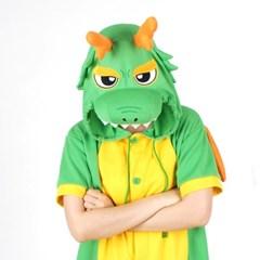 반팔 동물잠옷 드래곤 (그린)