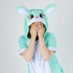 반팔 동물잠옷 토끼 (민트)