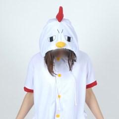 반팔 동물잠옷 닭 (화이트)