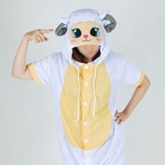 반팔 동물잠옷 양 (화이트)