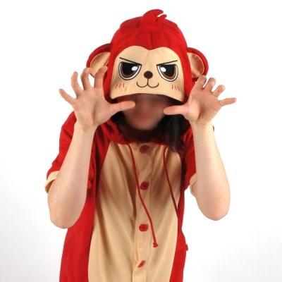 반팔 동물잠옷 원숭이 (레드)