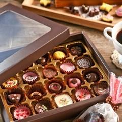 초콜릿 만들기 세트 (20구) - 브라운 사각_(1199613)