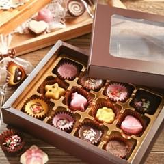 초콜릿 만들기 세트 (12구) - 브라운 사각_(1199610)