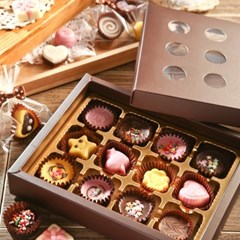 초콜릿 만들기 세트 (12구) - 브라운 원형_(1199609)
