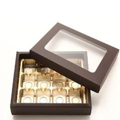 초콜릿박스 12구 브라운 사각창_(1199620)