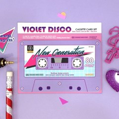 Cassette Card Set_Violet Disco