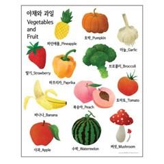 야채 와 과일 - 학습용 방수포스터