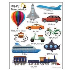 교통수단 - 학습용 방수포스터