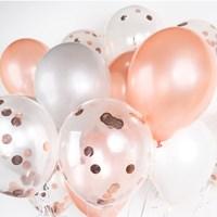 헬륨풍선효과 컨페티벌룬 은박 로즈골드 [30개묶음]_(11626278)