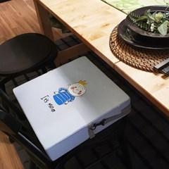 하쥬르 키높이 유아 어린이 식탁 의자 방석 (2중안전장치) - 왕자