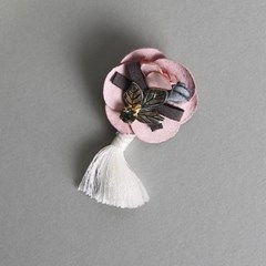 은가비 브로치 (핑크)