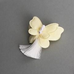 나비 브로치 (노랑)