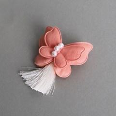 나비 브로치 (분홍)