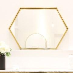 골드 육각 거울 인테리어 화장대 욕실 거울