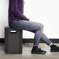 런메이크 수납스툴-의자 화장대 보조 원목 공간박스 인테리어