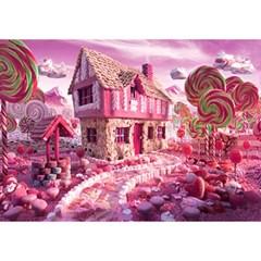 1000조각 목재 직소퍼즐▶ 핑크 쿠키하우스 [WPK1000-22]