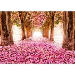 1000조각 목재 직소퍼즐▶ 핑크 꽃나무 가로수길 [WPK1000-41]