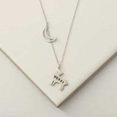 Moon silhouette necklace