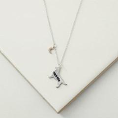 Mini moon silhouette necklace