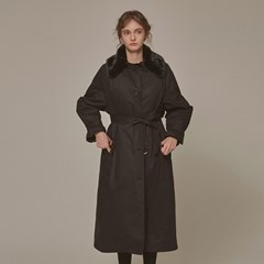 FUR MILITARY PADDING COAT_BLACK