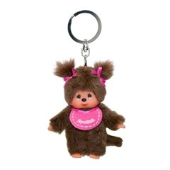 Classic Monchhichi Pink Girl Keychain (European Edition)