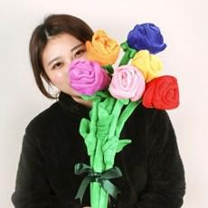 [SNS대란! 장미꽃다발인형 7color] 플라워봉제 성년의날 졸업식선물
