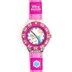 디즈니 JTD-23 울라프 엘사 시계 진핑크_(885252)