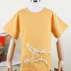 [다이노솔즈] 공룡 전신 그래픽 키즈 반소매 티셔츠 YE