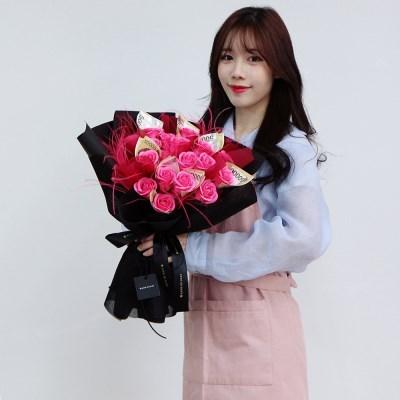 [리브인리프] 핑크 돈꽃다발