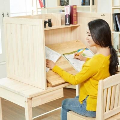 원목 각도조절 독서대 집중력 독서실책상 800 소나무
