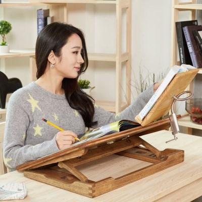 원목 독서대 각도조절 보조책상 600 오크 세트 필기