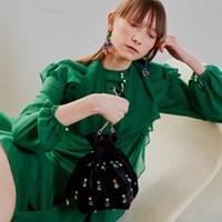ALICE Velvet JEWELRY POUCH BAG MINI_C