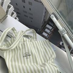 Stripe pastel kakki bag ( hand made )