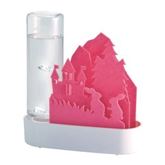 일본 우루오이 애니멀 자연기화식 에코가습기 핑크