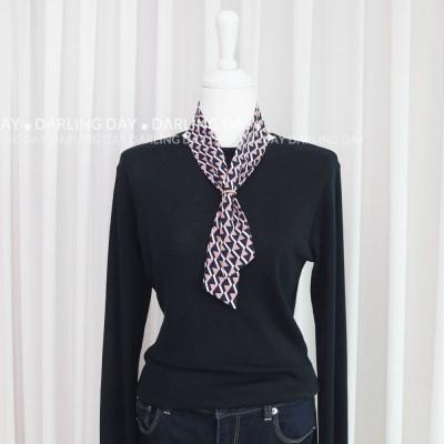 삼각 패턴 쁘띠 트윌리 스카프 (3 colors)