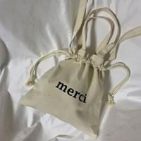 [rube] 메르시 캔버스 미니 에코백 (아이보리)
