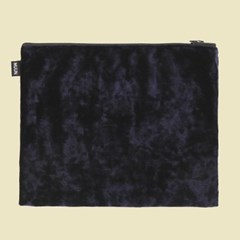 벨벳 파우치 M 블루블랙 네이비