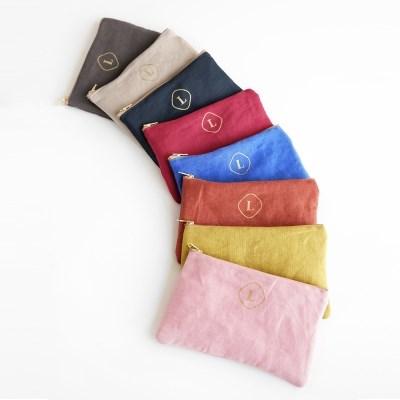 Premium Linen Zip pouch - Pocket