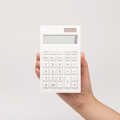 단순생활 심플 데스크 전자계산기 화이트
