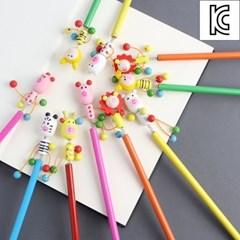 귀여운 나무인형 원목 연필10개