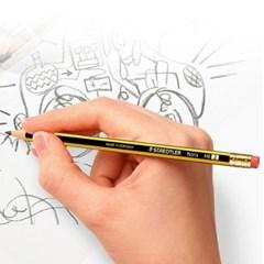 스테들러 노리스 122-HB 12개 지우개 연필